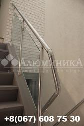 Стеклянные ограждения для лестниц и балкона Стеклянные перила